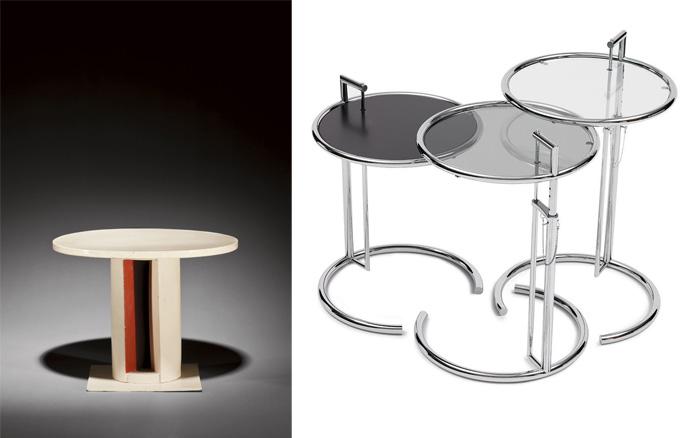 Столики, спроектированные Эйлин.