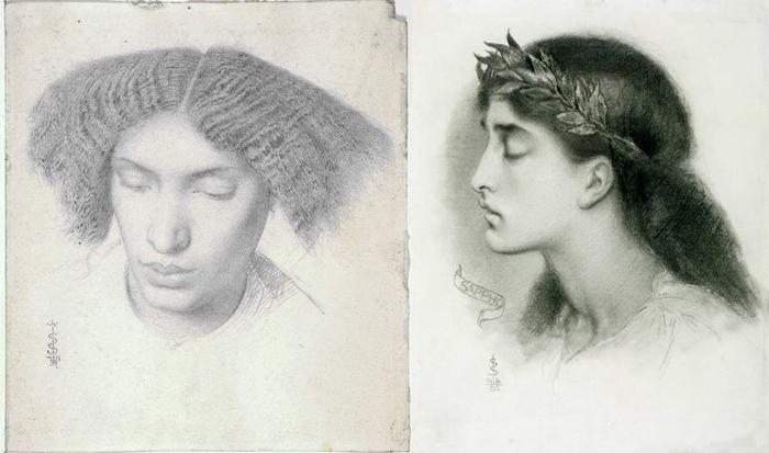 Рисунки, выполненные в период близости прерафаэлитам.