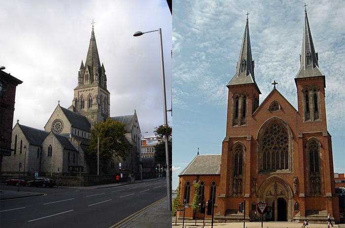 Церкви в неоготическом стиле.
