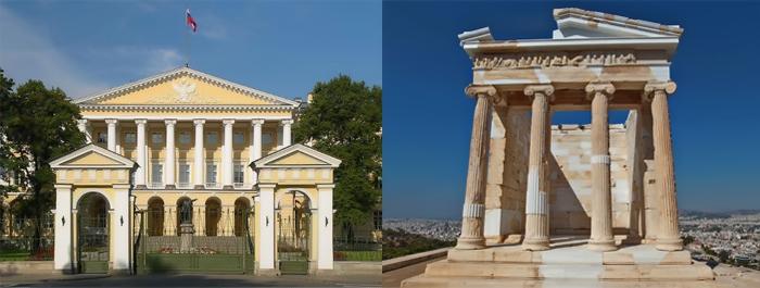 Архитектура классицизма и античности.