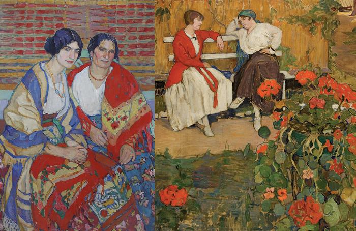 Больше всего Киселева любила писать женщин в ярких нарядах.
