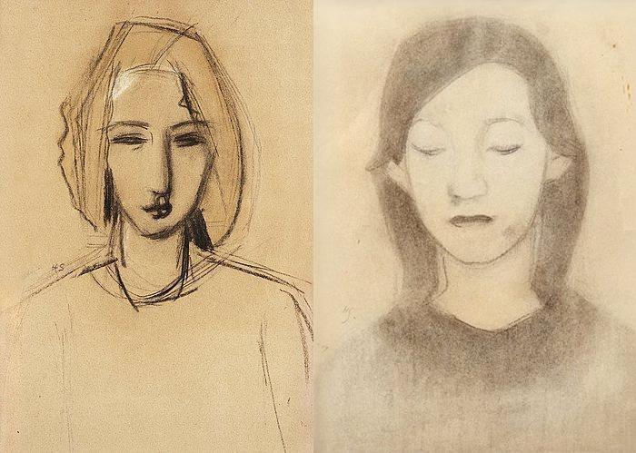 Большая часть работ Шерфбек - портреты женщин. Женская дружба была очень важна для нее.