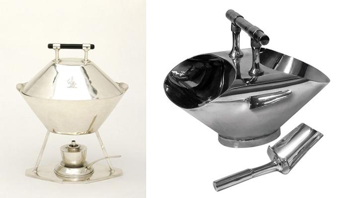 Металлическая посуда по проектам Дрессера.