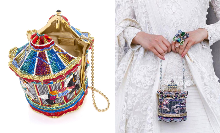 Театральные сумочки в форме карусели.