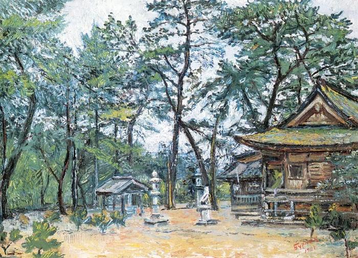 Ворота храма в Японии.