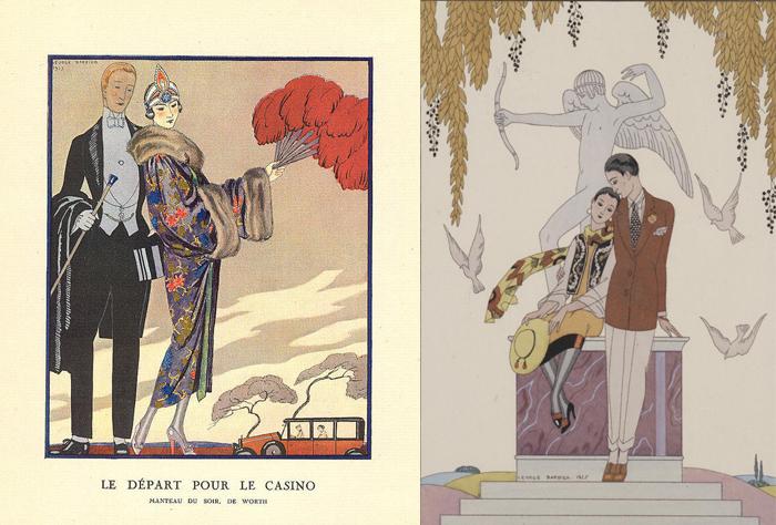 Иллюстрации Жоржа Барбье.