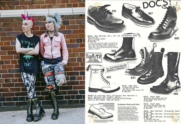 Современные панки и реклама ботинок Dr.Martens.