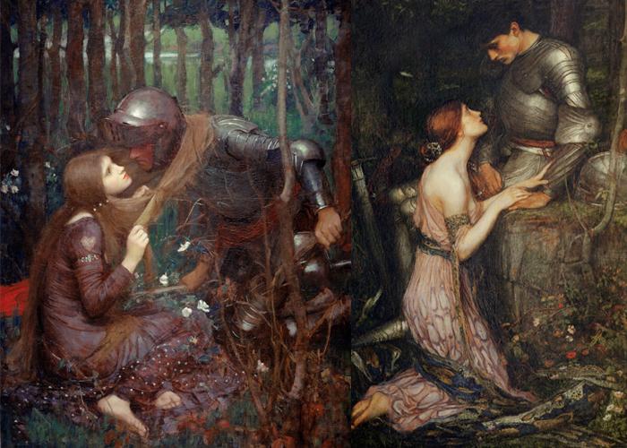 Прекрасная беспощадная дама (слева), Ламия (справа).