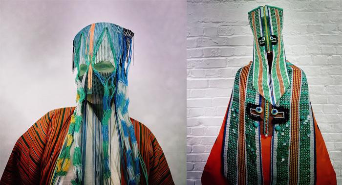 Манхильд не планировала делать маски, но ей хотелось как-то использовать винтажные вещи.