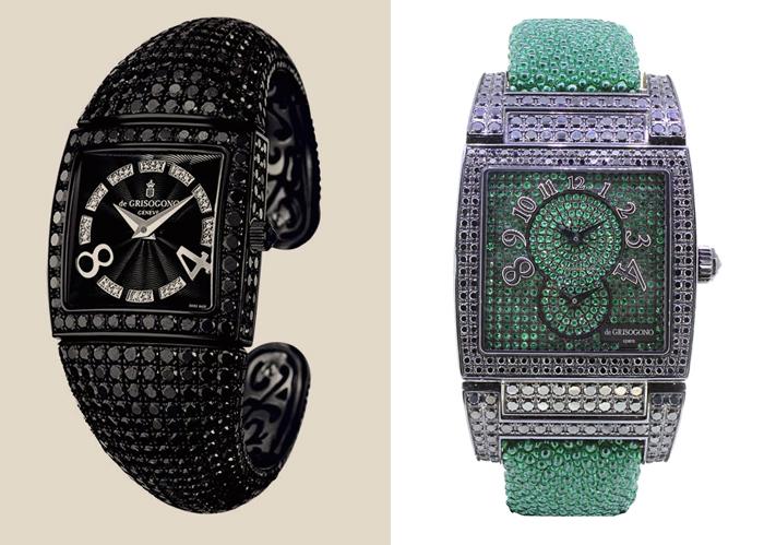 Часы, инкрустированные бриллиантами.