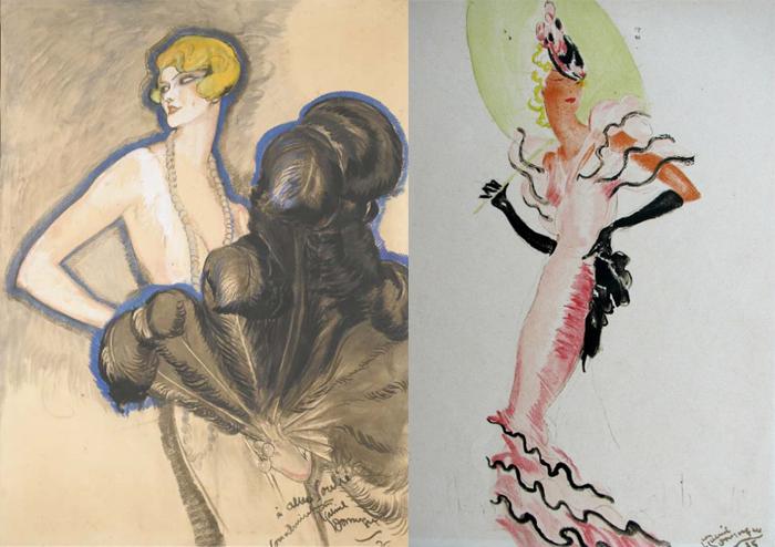 Домерг мечтал быть пейзажистом, но стал модным иллюстратором.