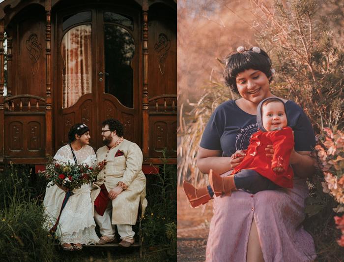 Раджини с мужем и дочерью.