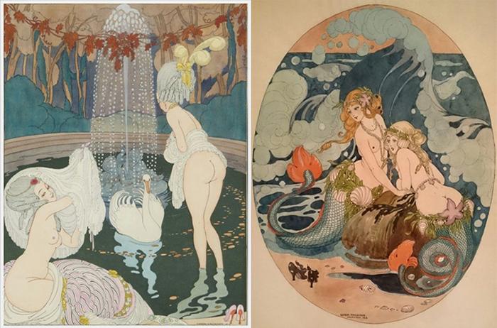 Иллюстрации Герды Вегенер.