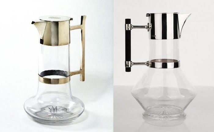 Посуда из стекла и металла.