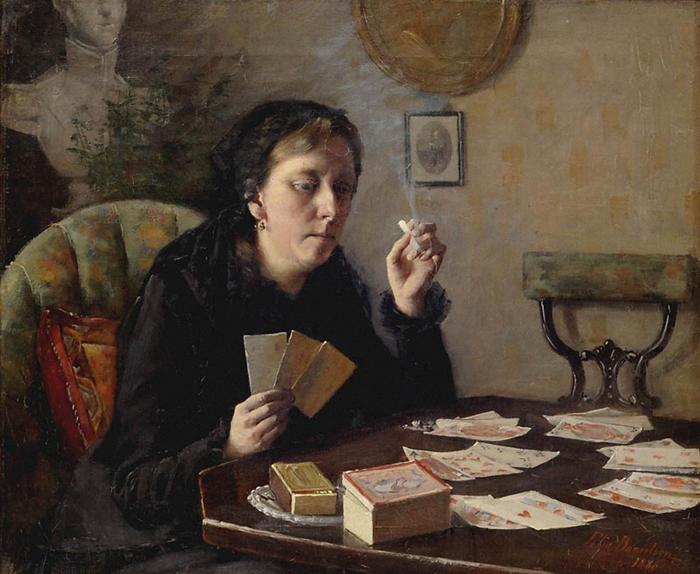Женщины в работах Элин курят, занимаются своими делами и никогда не кокетничают со зрителем.