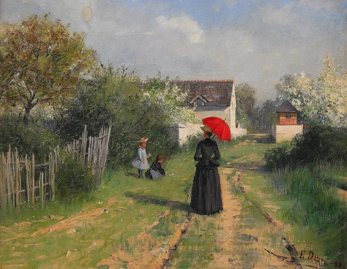 Элин родилась в деревне и позже стремилась писать финскую природу и женщин.