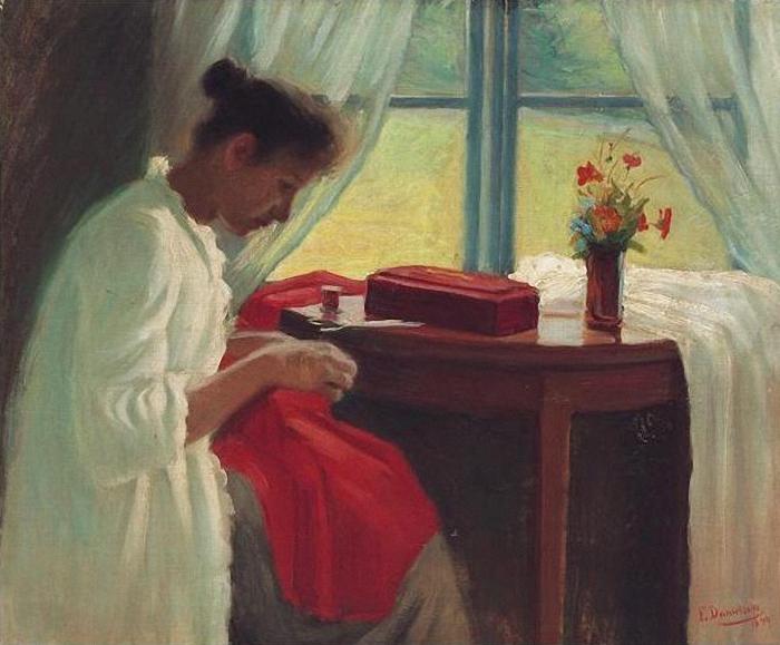 Элин часто писала простые бытовые сценки.