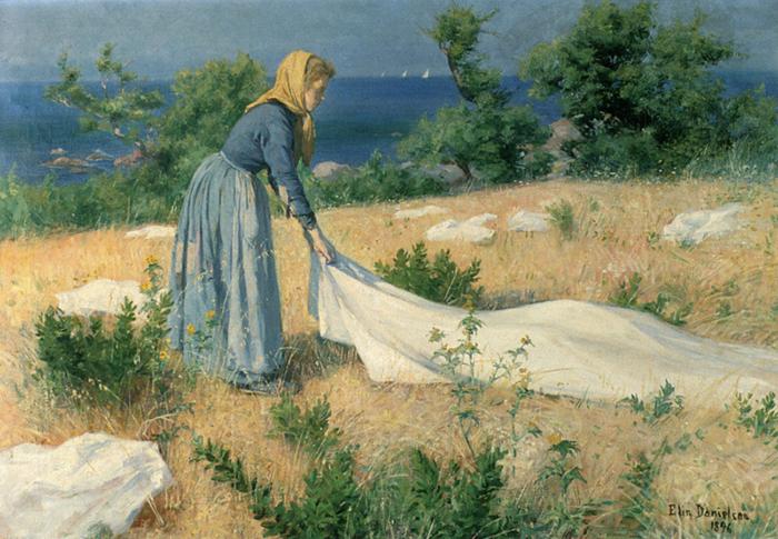 Суровый пейзаж, простые люди и тяжелый труд...