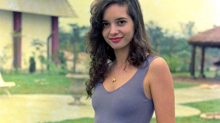 Даниэла Перес во время съемок.