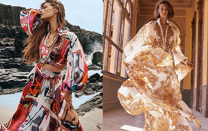Платья, напоминающие о пляжах и дикой природе Австралии.