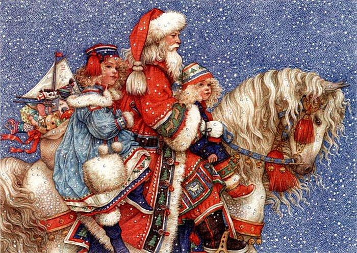 Рождественские иллюстрации Анны Ивонн Гилберт.