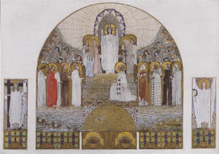 Работы Коломана Мозера в церкви Стейнхоф.