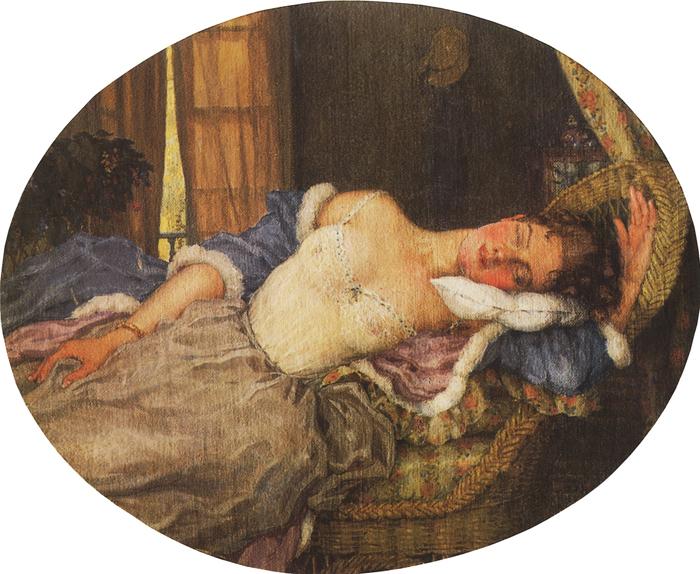 Спящая девушка.