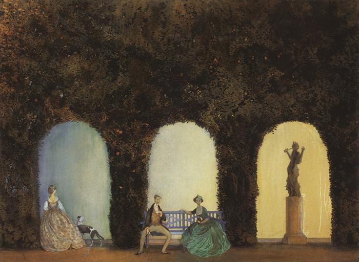 В Париже Сомов влюбился в рококо.