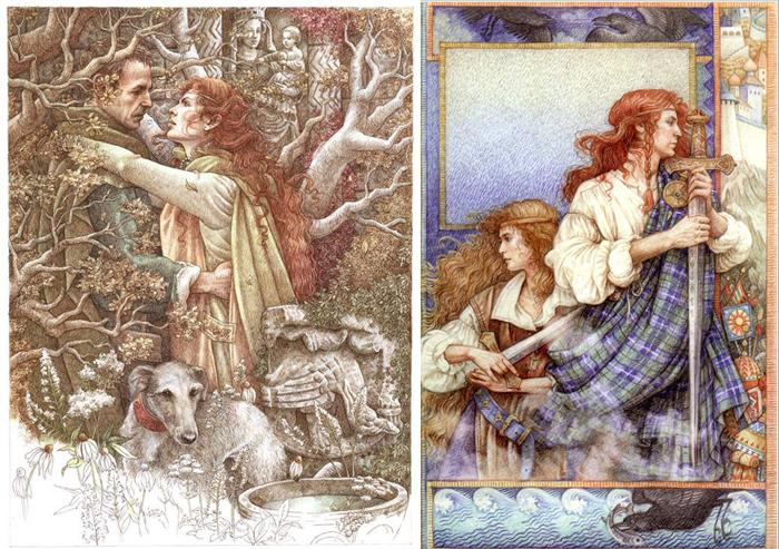Иллюстрации к сказкам и мифам.
