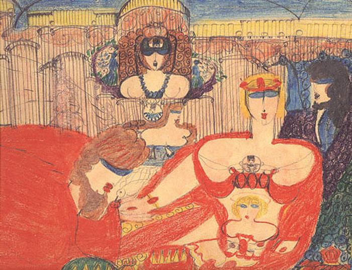 Рисунки пациентов психиатрических клиник в XX веке стали предметом коллекционирования. Алоиза Корбац - самая известная их таких художниц.