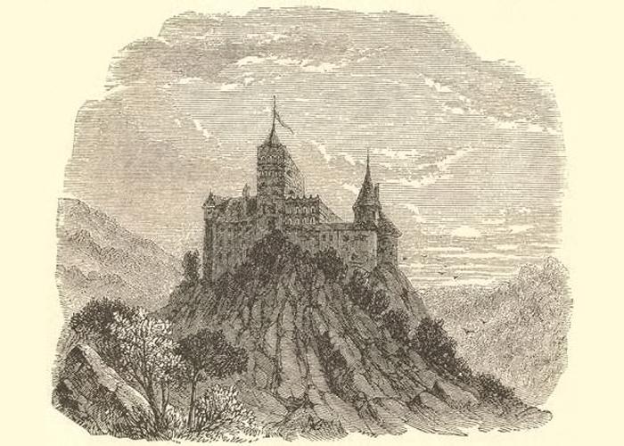 Иллюстрация с изображением замка.