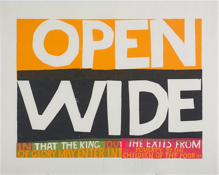 Работы Кориты Кент могли выглядеть как плакаты - и при этом содержать цитаты из религиозных текстов.