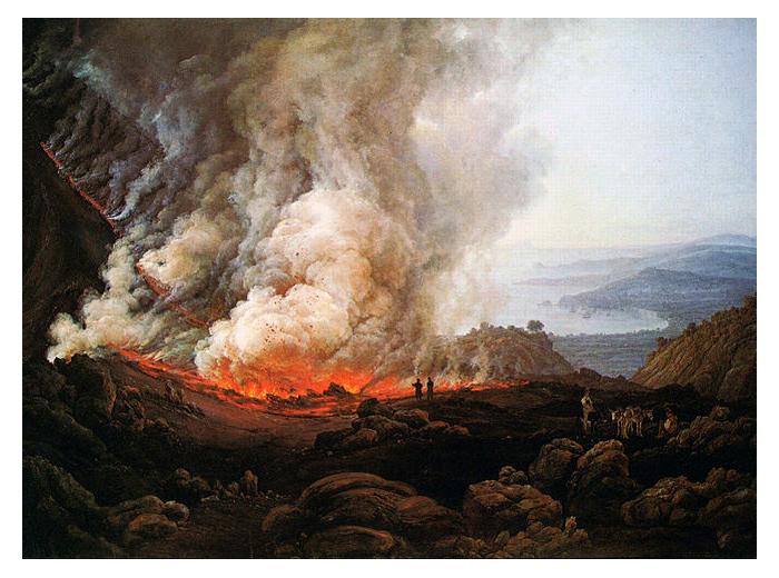 Извержение Везувия. Первая успешная работа Даля.