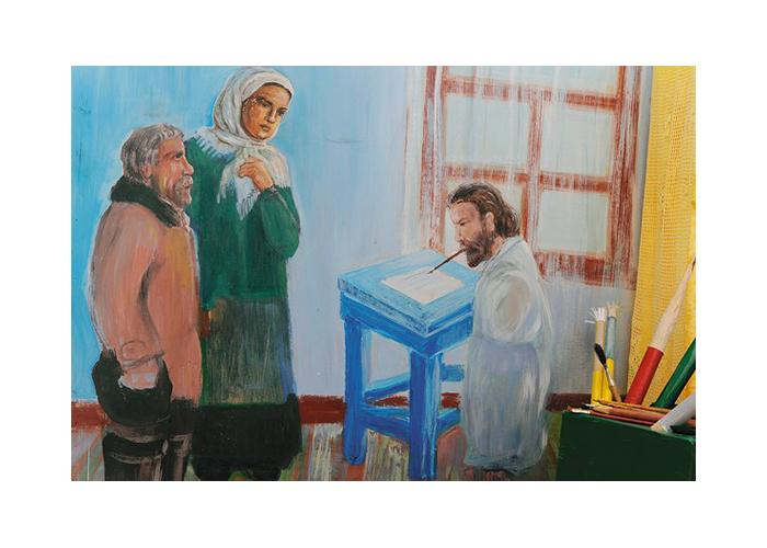 Рисунок Людмилы Кулагиной из серии, посвященной истории Григория Журавлева.