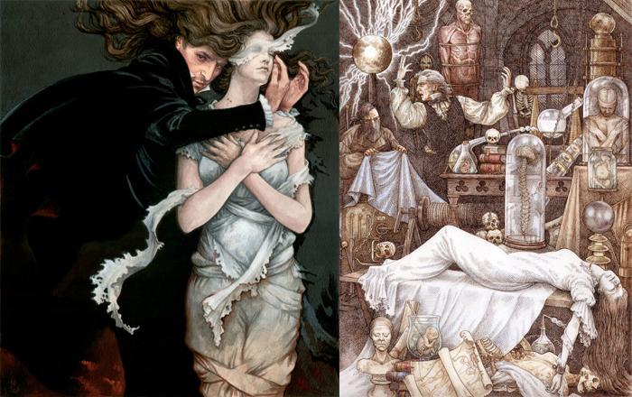 Иллюстрации к историям о вампирах.