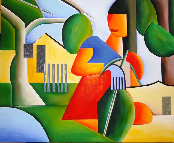 Тарсила ду Амарал начинала как художница-кубистка.