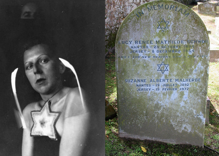Клод Каон и Сюзанна Малерб похоронены вместе, на наддгроби - шестиконечные звезды, символ еврейского народа.