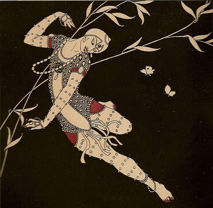 Рисунок с изображением Вацлава Нижинского.