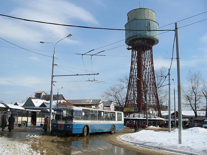 Шуховская водонапорная башня в Подольске.
