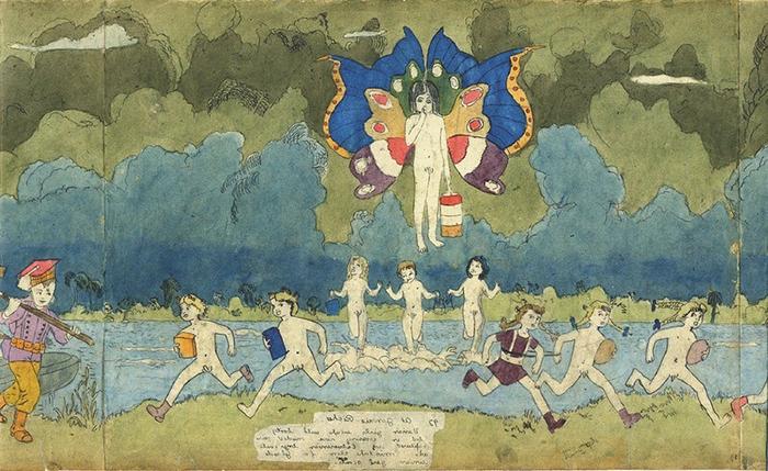 Дарджер изображал девочек, но не знал, как выглядит женское тело, поэтому рисовал их как мальчиков.