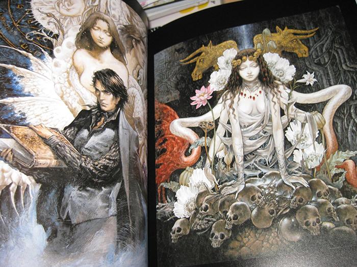 Страницы артбука с работами Аями Кодзимы.