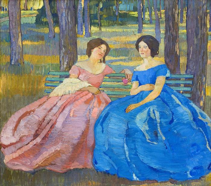 Освоив академическую живопись, Киселева увлеклась символизмом...