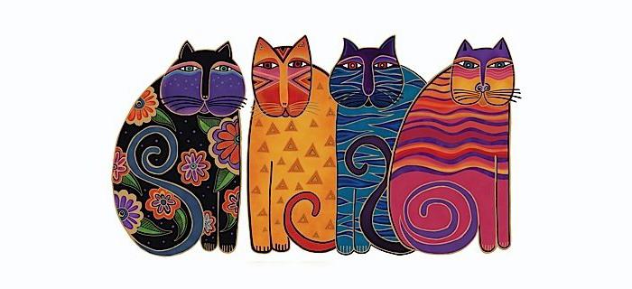 Как мать-одиночка с «хрустальными костями» покорила мир психоделическими рисунками: Лорел Берч и ее разноцветные коты