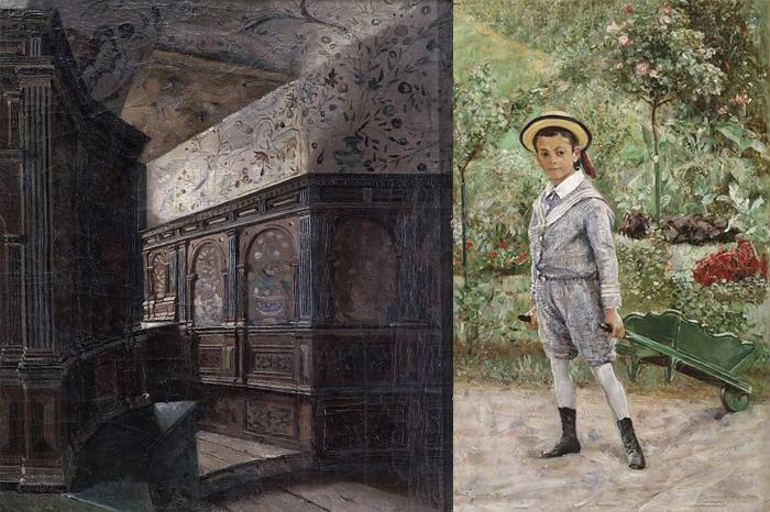 Зал башни герцога Карла в Грипсхольме. Мальчик с тачкой.