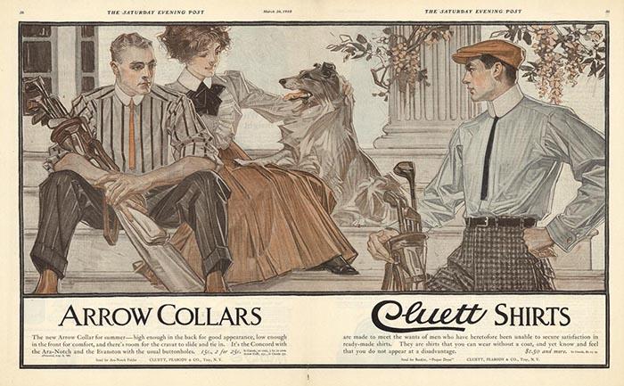 Реклама для «Arrow Collars».