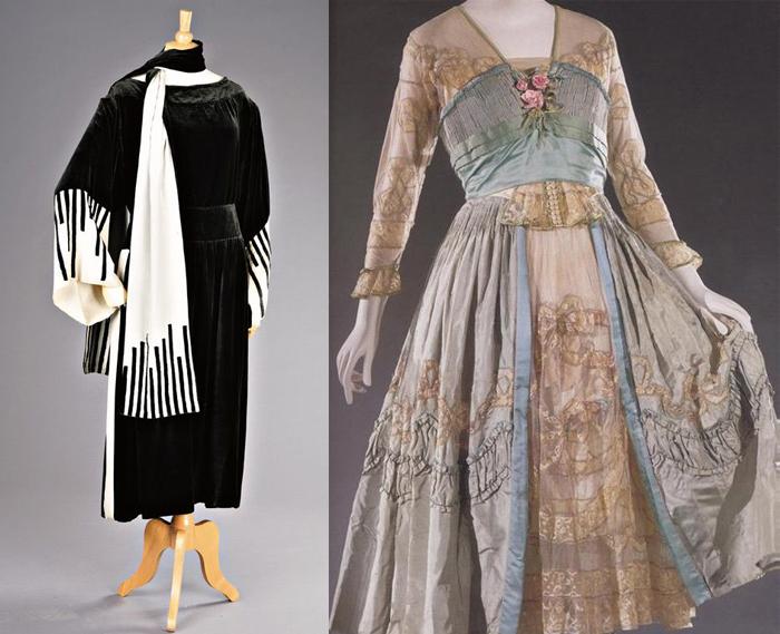 Уличное и чайное платье от Люсиль.