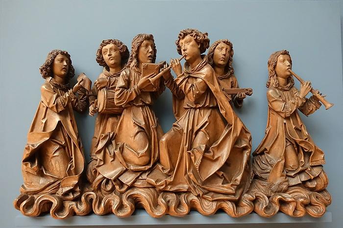 """Тильман Рименшнайдер, """"Ангелы, поющие и играющие на музыкальных инструментах""""."""