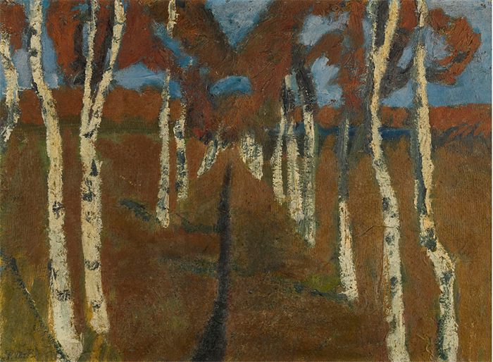 Пейзаж Паулы, написанный в Ворпсведе.
