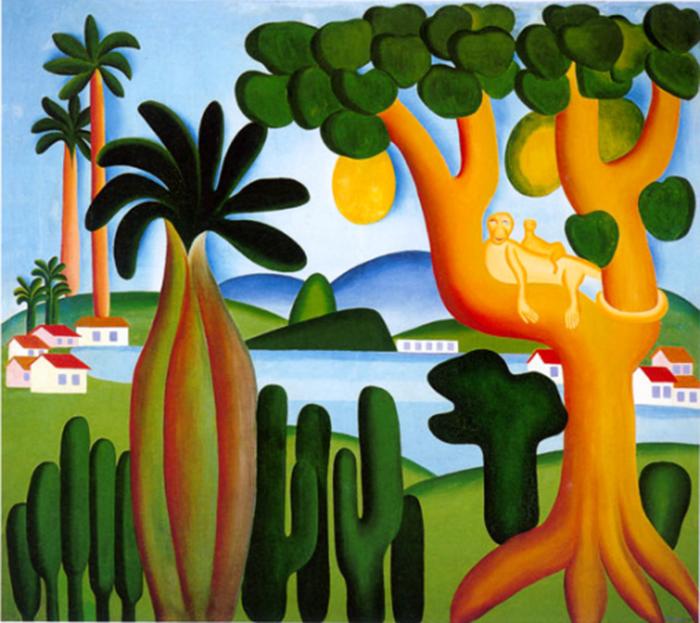 Лес в живописи Тарсилы ду Амарал.
