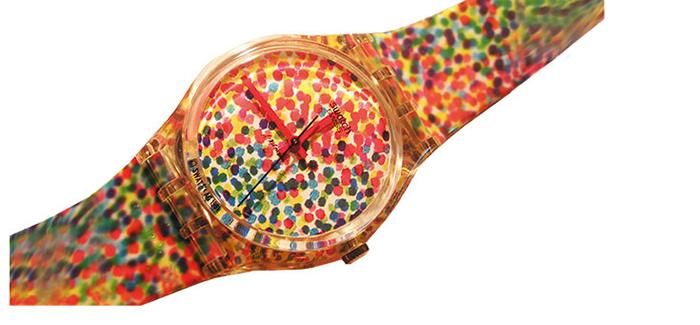 Часы с отсылкой к пуантилизму.